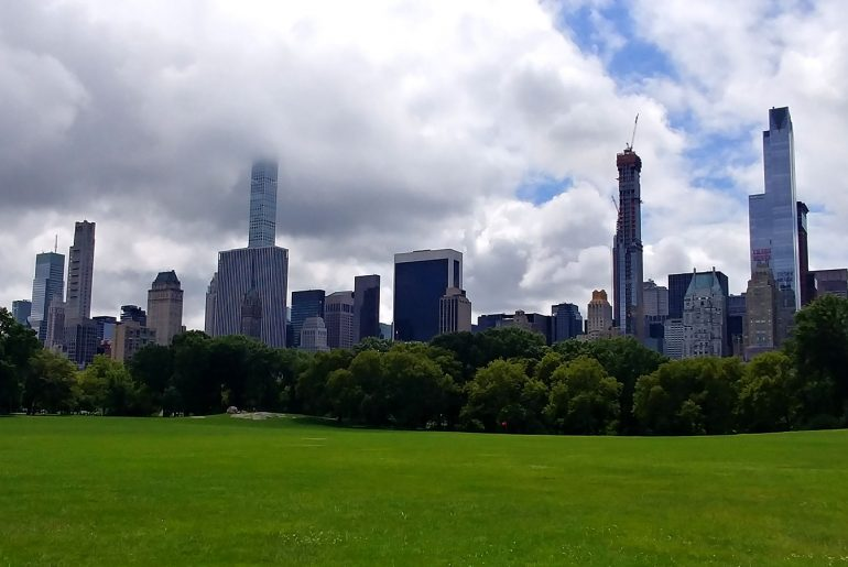 The skyline of New York city viewed from Central Park during Roguetrippers visit to NYC during August 2018.
