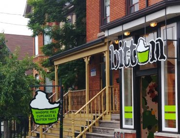 Bitten Bakery on Locke Street in Hamilton is a beautiful and quaint bake shop specializing in butter tarts, cupcakes, and whoopee pies.