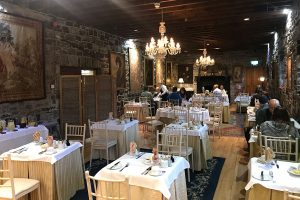 The dining room at Ballyseede castle was a beautiful eating experience that roguetrippers enjoyed.