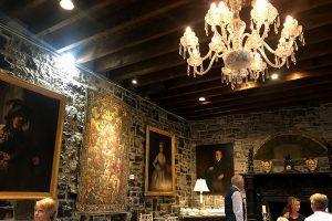 Gorgeous dining room inside Ballyseede castle.