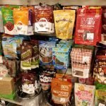 Various Dog treats available at many pet stores that you may want too have on hand for a roadtrip with your dog.