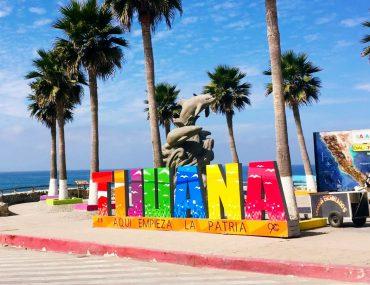 Tijuana sign at the Playas de Tijuana beach. This is a 20 minute drive from downtown Tijuana.