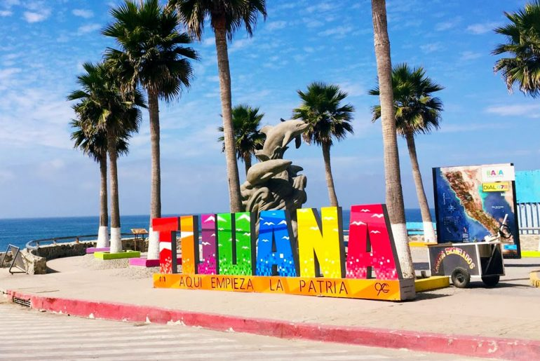 Tijuana sign at the Playas de Tijuana beach. This is a 20 minute drive from downtown Tijuana.