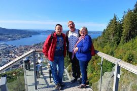 Roguetrippers took their Mom on a cruise to Norway and excursions to Mt Floyen.