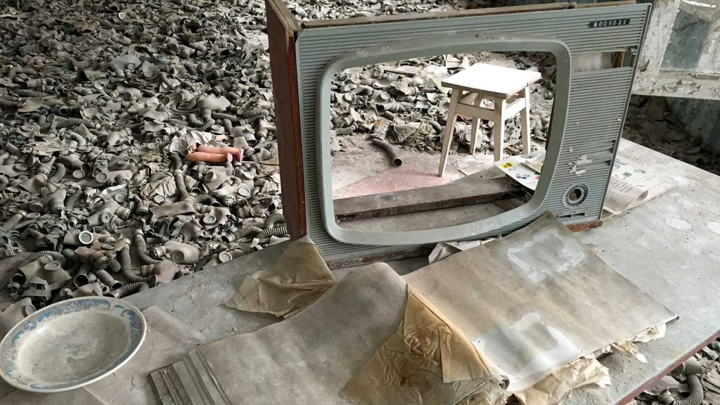 Chernobyl gas mask room