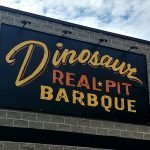 Dinosaur Real Pit BarBQue is right in front of Shea's Performing arts centre in Buffalo