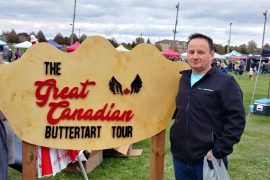 Greg from Roguetrippers at the All Canadian events Butter Tart Festival in Paris Ontario 2018