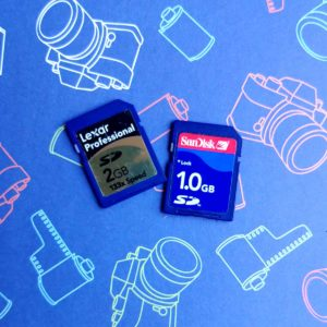 extra SD cards for your camera