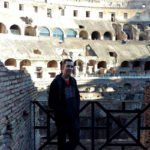 Brad at the Colosseum