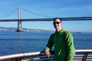 Brad Parsons admiring the Golden Gate Bridge.