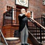Alexander Kieth raises a pint in Nova Scotia
