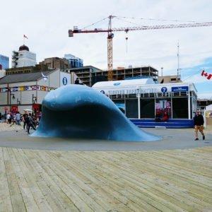 The big wave sculpture in Halifax