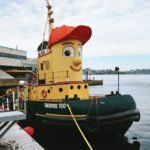 Roguetrippers love Theodore the Tugboat in Halifax Harbour