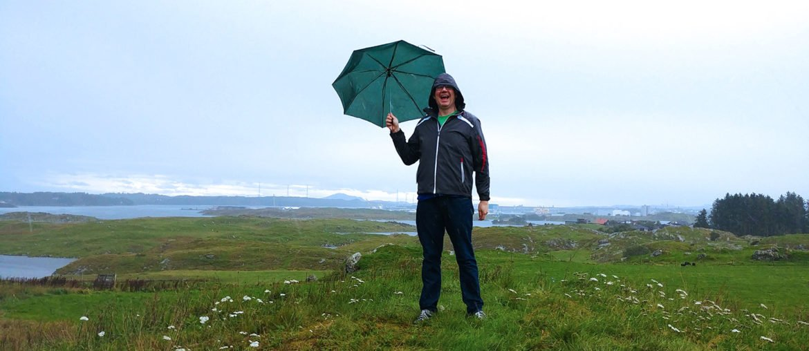 Roguetrippers always pack a small umbrella and a rain coat when we travel.