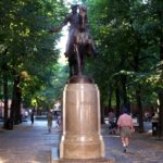 Paul Revere Statue in Boston - Roguetrippers cemetery travel