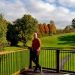 Nick matches his outfit to the autumn colours at the River Valley Golf and Snow Tubing resort in Perth County
