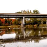 Thames River Bridge in Perth County during the autumn