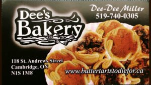 Dee's Bakery in Cambridge Butter Tarts to Die For