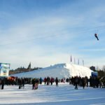 Ziplining overJacques Cartier Park