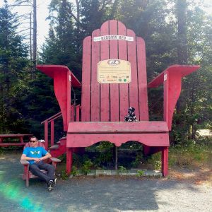 The Big Red Muskoka Chair - Algomy Red. Roguetrippers and Randoms Travels