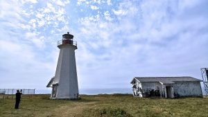 Cape Enragee Lighthouse Cape Breton Island Nova Scotia