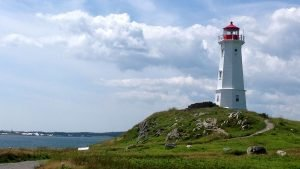 Louisbourg lighthouse Cape Breton Island