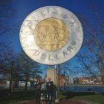 Campbellford has the worlds Largest Toonie statue- Roguetrippers love Roadside attractions
