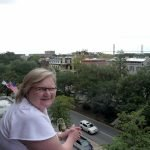 RogueTrippers #Rogue_Momma enjoys the view from the DeSoto Hotel in Savannah Georgia