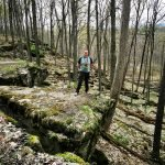 Nick Kulnies poses on the escarpment of the Bruce Trail