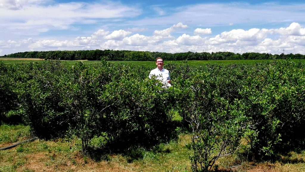 Nick Kulnies of Roguetrippers visit TNT Berries in Perth County for some delicious blueberries
